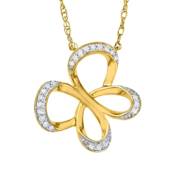 Jessica Simpson Diamond Butterfly Necklace in 10K Gold