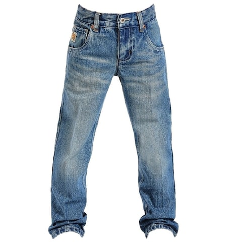 Cinch Western Denim Jeans Boys Tanner Regular Med Stonewash