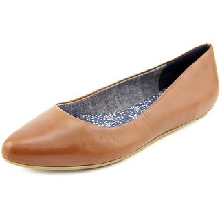 Dr. Scholl's Really Women Pointed Toe Leather Tan Flats