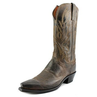 Lucchese N4554.54 Women Square Toe Leather Black Western Boot