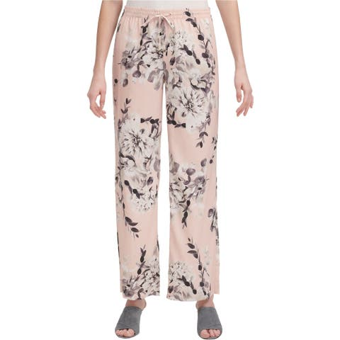 Calvin Klein Womens Palazzo Casual Wide Leg Pants, Pink, X-Large