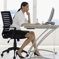 VECELO Home Office Chairs Ergonomic Adjustable Swivel Chairs for Task/Desk Work(only mesh cushion chair available)