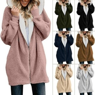 Link to New Plus Size S-5Xl Winter Fashion Women Zipper Hooded Coat Warm Cardigan Sweaters Coat Similar Items in Women's Outerwear