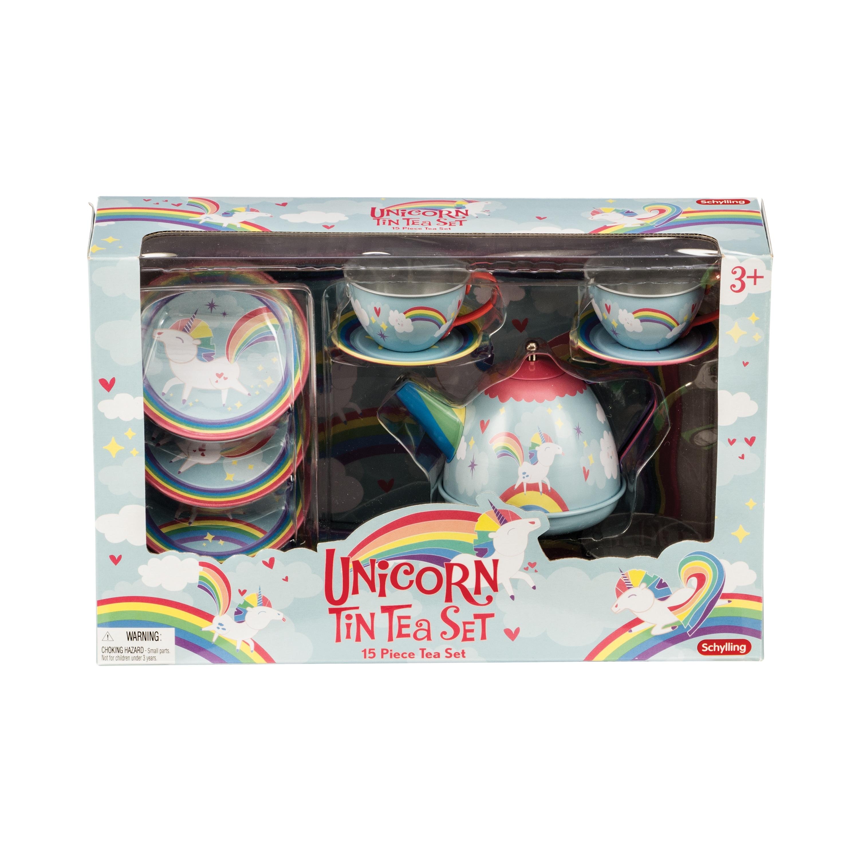 Schylling Unicorn Tin Tea Set