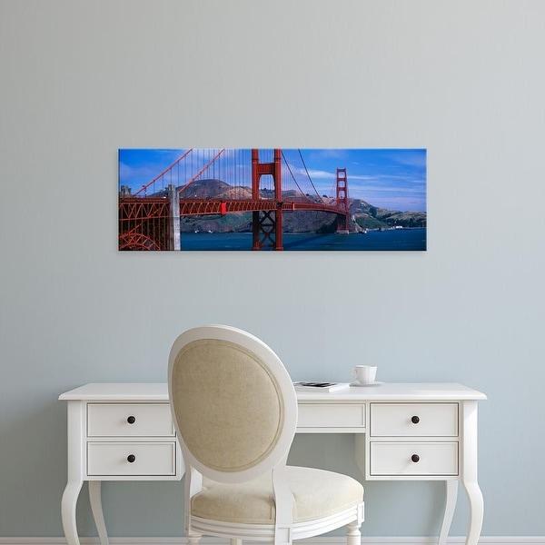 Easy Art Prints Panoramic Images's 'Bridge across a river, Golden Gate Bridge, San Francisco, California' Canvas Art