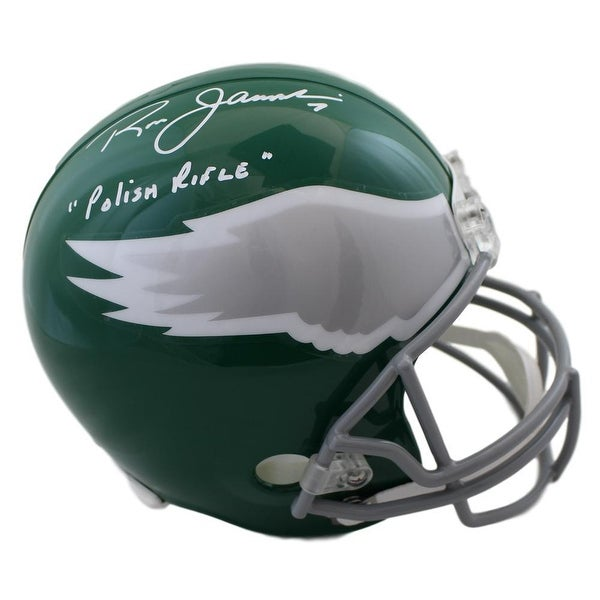 the latest 108ba 145d4 Ron Jaworski Autographed Philadelphia Eagles Replica Helmet Polish Rifle BAS