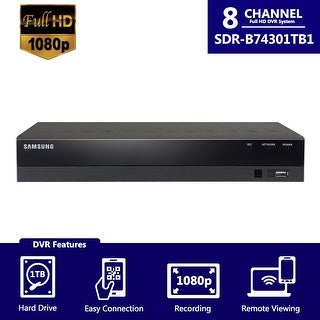 SDR-B74301 (1TB) - Samsung 8Ch HD DVR from SDH-B74041 (Refurbished)