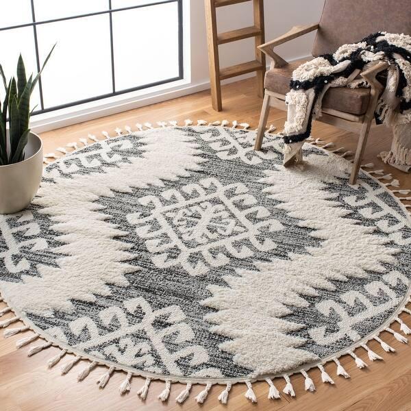 Safavieh Moroccan Tassel Shag Iulieana 2 Inch Thick Rug On Sale Overstock 28456985