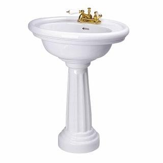 Renovator's Supply White Deluxe Philadelphia Freestanding Pedestal Bathroom Sink