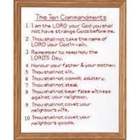 "Stamped White Sampler 11""X14""-10 Commandments"