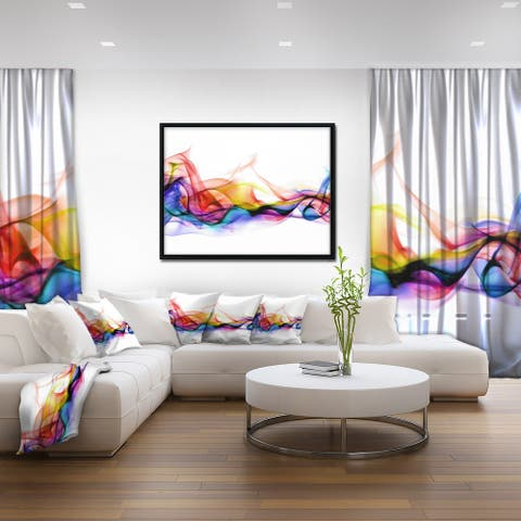 Designart 'Abstract Smoke' Contemporary Framed Canvas Artwork Print