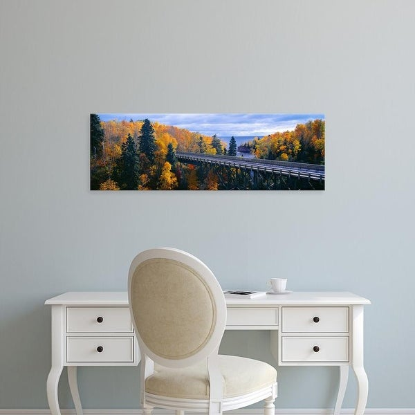 Easy Art Prints Panoramic Images's 'Baptism River into Lake Superior, Tettegouche State Park, Minnesota' Canvas Art