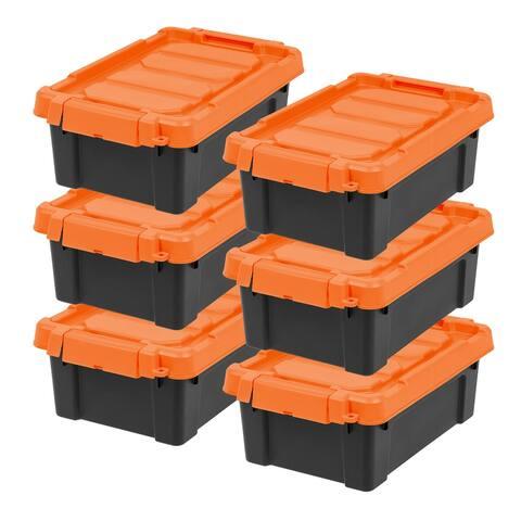 IRIS 3 Gal. Store-It-All Storage Tote in Black (6-Pack)