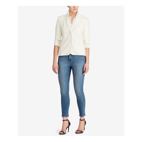 RALPH LAUREN Ivory Blazer Jacket Size 8