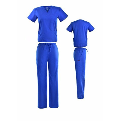 DSF Medical Uniform Women Men Scrub Set Top and Cargo Pants 1836