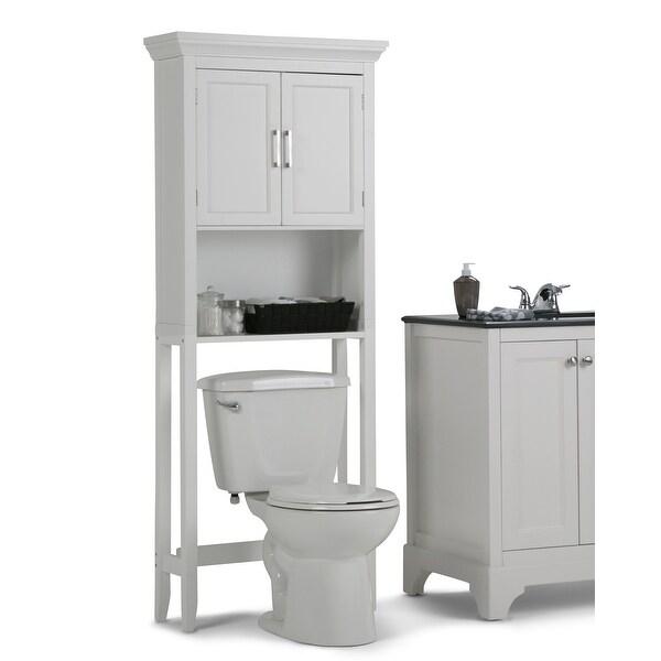 WYNDENHALL Hayes 67 inch H x 27 inch W Space Saver Bath Cabinet - 67 inch high