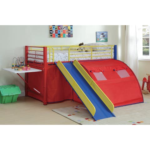 Shora Multi-color Twin Playhouse-inspired Tent Loft Bed