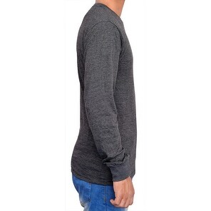 Mens T-Shirt O-Neck Casual Long Sleeve SF1
