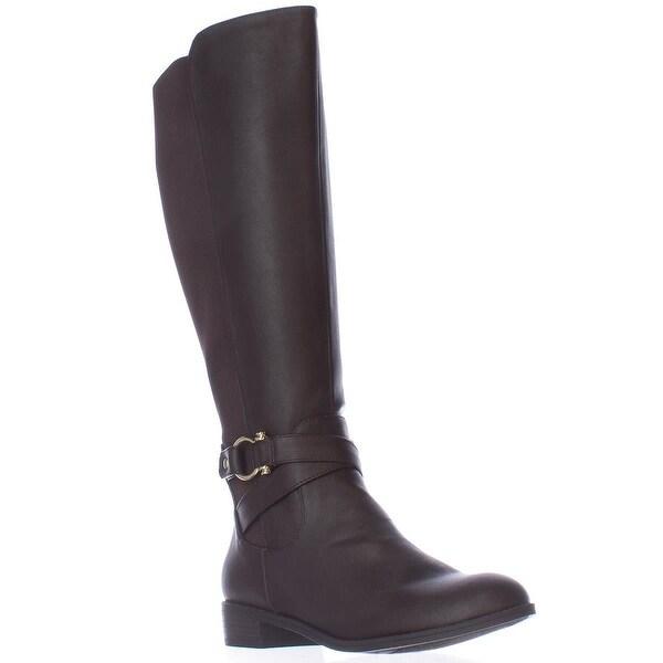 KS35 Davina Knee-High Riding Boots, Brown