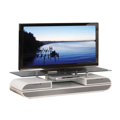 ACME Lainey TV Stand in White & Gray