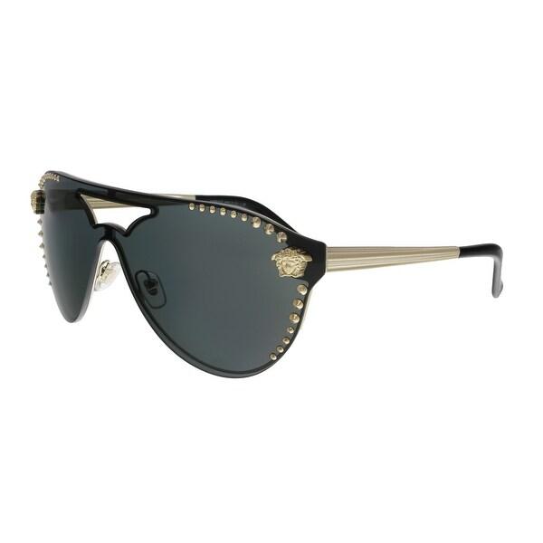 88d2c509d1c9 Shop Versace VE2161 125287 Pale Gold Aviator Sunglasses - No Size ...