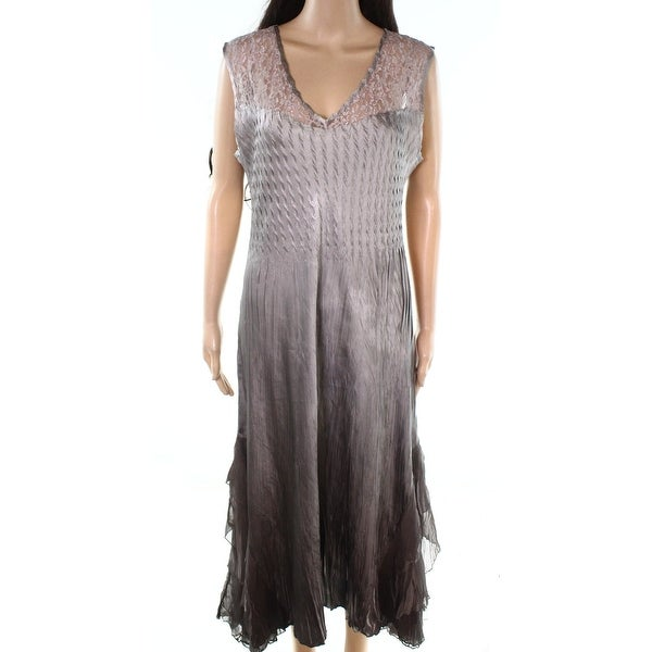 494916c9595 Shop Komarov Womens Large Petite Lace Yoke Sheath Dress - On Sale - Free  Shipping Today - Overstock - 26996796