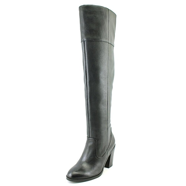Corso Como Harrison Women Round Toe Leather Black Over the Knee Boot