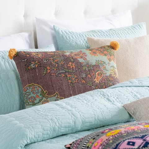 Holt Handwoven Shabby Chic 16x24-inch Lumbar Throw Pillow