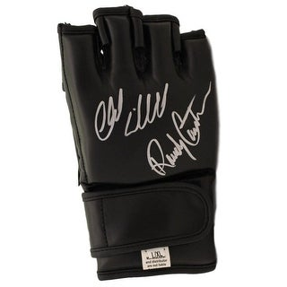 Randy Couture Chuck Liddell Autographed UFC Black Right Handed Glove BAS