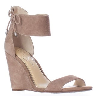 Jessica Simpson Breeley Wedge Ankle Strap Lace Up Sandals, Totally Taupe