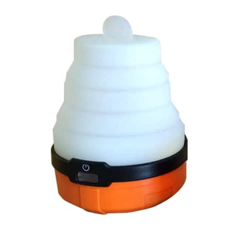 UST 20-LNT0006-08 Spright LED Lantern with Collapsible Silicone Globe, Orange