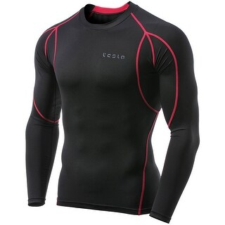 Tesla MUD11 Cool Dry Long Sleeve Compression Shirt - Black/Red (3 options available)