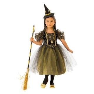 Girls Golden Star Witch Halloween Costume