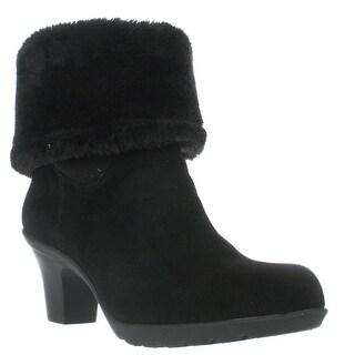 Anne Klein Heward Cuffed Ankle Winter Boots, Black/Black