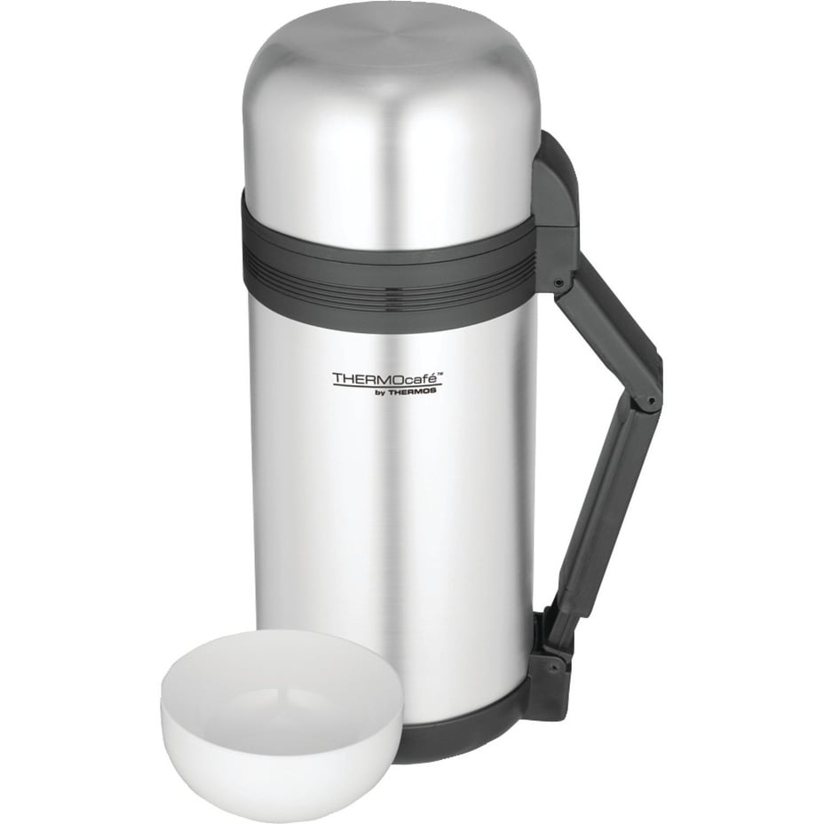 Rock Work Series Stainless Steel Beverage Bottle Silver//Black Thermos 1.1 qt