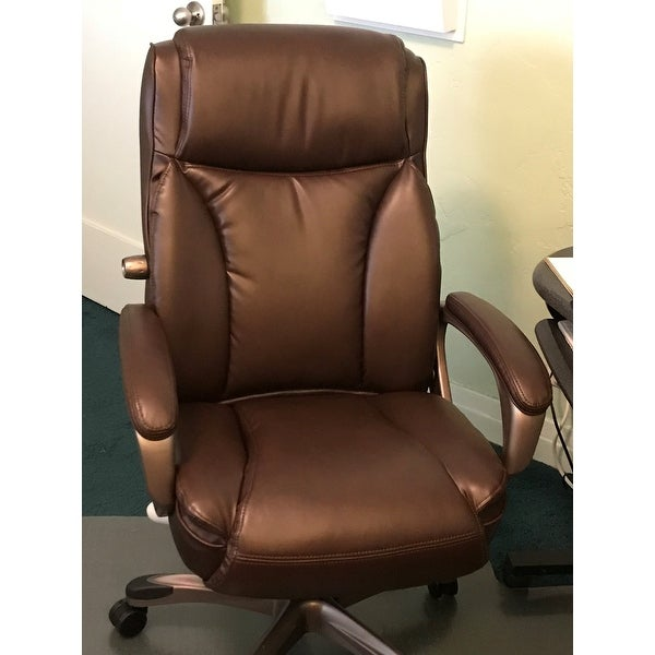 Shop Alera Veon Series Brown Executive High Back Leather Chair W/ Coil  Spring Cushioning   Free Shipping Today   Overstock.com   10302589