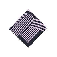 Tom Ford Pink Black Abstract Stripe Silk Pocket Square - One size