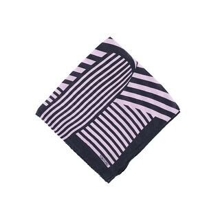 Tom Ford Pink Black Abstract Stripe Silk Pocket Square