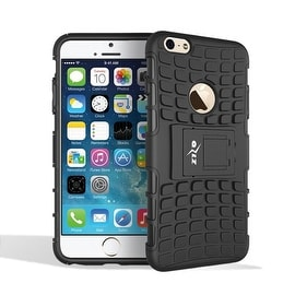 Insten Black Advanced Armor Dual Layer Hybrid Stand PC/ Silicone Holster Case Cover for Apple iPhone 6/ 6s
