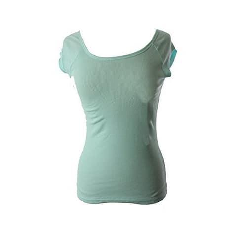 Jenni by Jennifer Moore Women Cap Sleeve Pajama Top Light Blue (M)