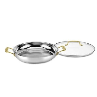 Cuisinart C7M25-30DGD Mineral Collection 12-Inch Everyday Pan, Stainless Steel