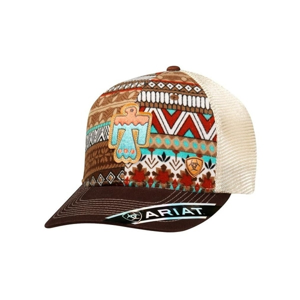 5a5c11e799216 Shop Ariat Western Hat Womens Baseball Snap Back OS Brown Aztec - Free  Shipping On Orders Over  45 - Overstock - 18216279