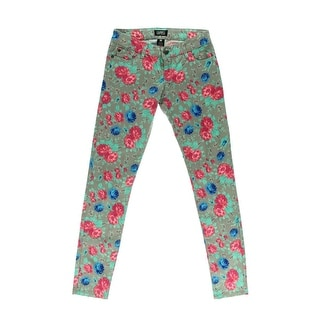 Celebrity Pink Womens Juniors Casual Pants Floral Print Flat Front - 13