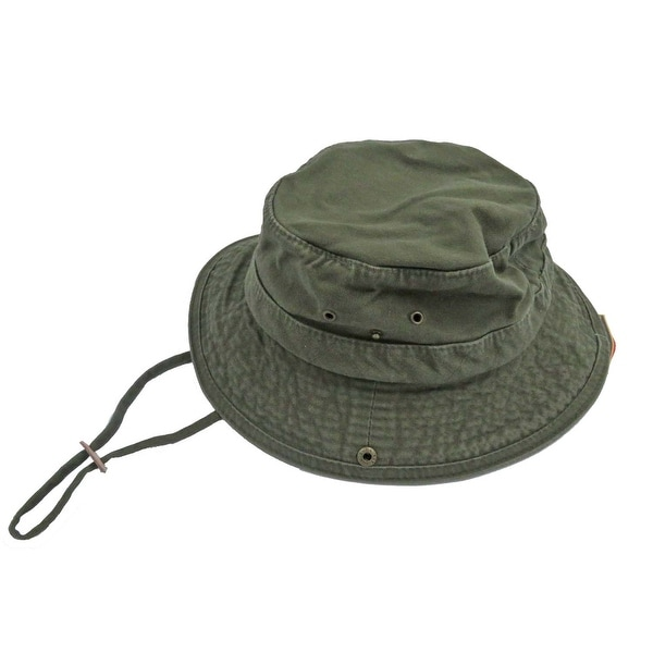 641188d3 Shop Dorfman Pacific Men's Twill Olive Bucket Hat - Free Shipping On Orders  Over $45 - Overstock - 24316994