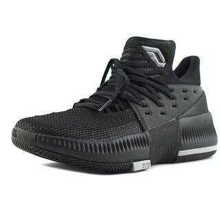 Adidas D Lillard 3 Youth  Round Toe Synthetic Black Basketball Shoe