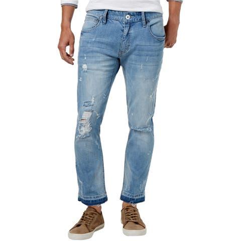I-N-C Mens Ripped Skinny Fit Jeans