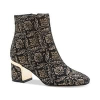 DKNY Womens Corrie Brocade Dress Ankle Boots