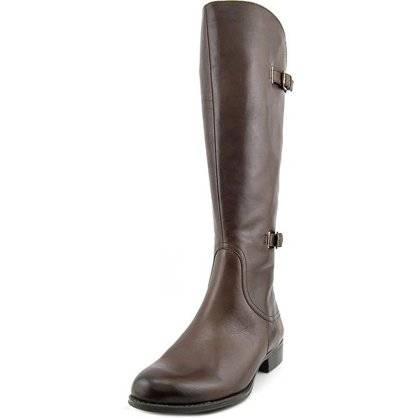 Naturalizer Jamison Wide Calf Round Toe Leather Knee High Boot