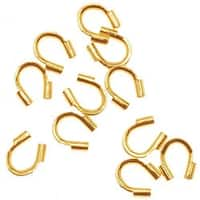 22K Gold Plated Wire & Thread Protectors .019 Inch Loops (50)