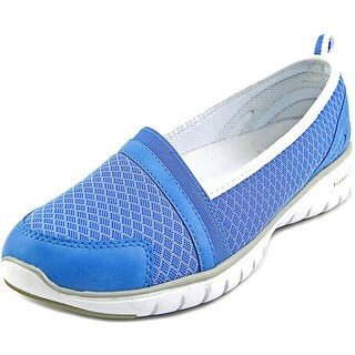 Propet Travellite Slip-On Women D Round Toe Synthetic Blue Loafer